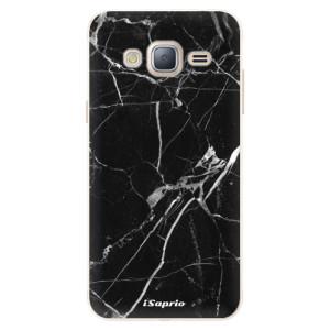 Silikonové pouzdro iSaprio (mléčně zakalené) Black Marble 18 na mobil Samsung Galaxy J3 2016