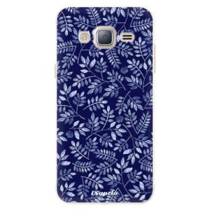 Silikonové pouzdro iSaprio (mléčně zakalené) Blue Leaves 05 na mobil Samsung Galaxy J3 2016