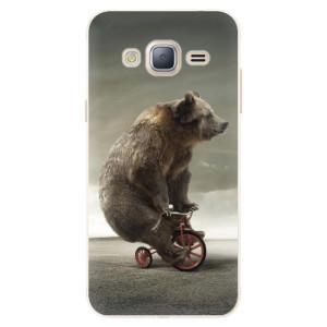 Silikonové pouzdro iSaprio (mléčně zakalené) Medvěd 01 na mobil Samsung Galaxy J3 2016