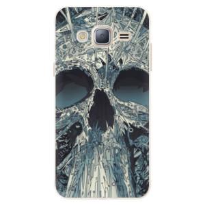 Silikonové pouzdro iSaprio (mléčně zakalené) Abstract Skull na mobil Samsung Galaxy J3 2016