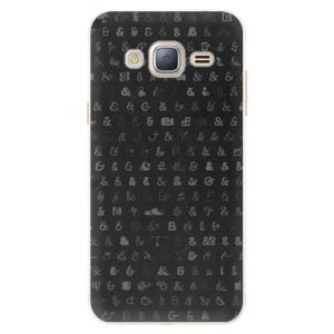 Silikonové pouzdro iSaprio (mléčně zakalené) Ampersand 01 na mobil Samsung Galaxy J3 2016