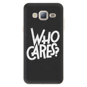 Silikonové pouzdro iSaprio (mléčně zakalené) Who Cares na mobil Samsung Galaxy J3 2016