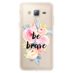 Silikonové pouzdro iSaprio (mléčně zakalené) Be Brave na mobil Samsung Galaxy J3 2016