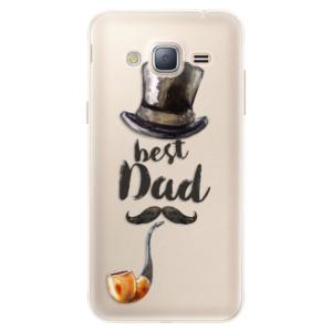 Silikonové pouzdro iSaprio (mléčně zakalené) Best Dad na mobil Samsung Galaxy J3 2016