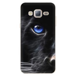 Silikonové pouzdro iSaprio (mléčně zakalené) Black Puma na mobil Samsung Galaxy J3 2016
