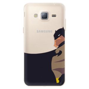 Silikonové pouzdro iSaprio (mléčně zakalené) BaT Komiks na mobil Samsung Galaxy J3 2016