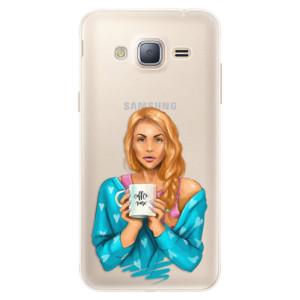 Silikonové pouzdro iSaprio (mléčně zakalené) Coffee Now Zrzka na mobil Samsung Galaxy J3 2016