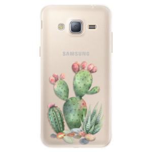 Silikonové pouzdro iSaprio (mléčně zakalené) Kaktusy 01 na mobil Samsung Galaxy J3 2016