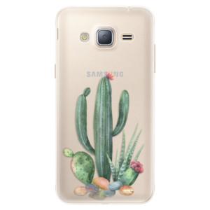 Silikonové pouzdro iSaprio (mléčně zakalené) Kaktusy 02 na mobil Samsung Galaxy J3 2016