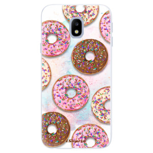 Silikonové pouzdro iSaprio (mléčně zakalené) Donutky Všude 11 na mobil Samsung Galaxy J3 2017