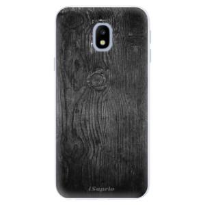 Silikonové pouzdro iSaprio (mléčně zakalené) Black Wood 13 na mobil Samsung Galaxy J3 2017