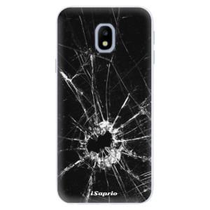 Silikonové pouzdro iSaprio (mléčně zakalené) Broken Glass 10 na mobil Samsung Galaxy J3 2017