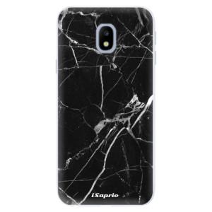Silikonové pouzdro iSaprio (mléčně zakalené) Black Marble 18 na mobil Samsung Galaxy J3 2017