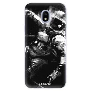 Silikonové pouzdro iSaprio (mléčně zakalené) Astronaut 02 na mobil Samsung Galaxy J3 2017