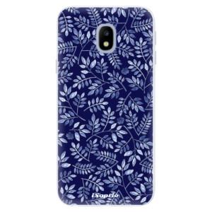 Silikonové pouzdro iSaprio (mléčně zakalené) Blue Leaves 05 na mobil Samsung Galaxy J3 2017