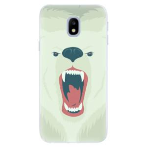 Silikonové pouzdro iSaprio (mléčně zakalené) Naštvanej Medvěd na mobil Samsung Galaxy J3 2017