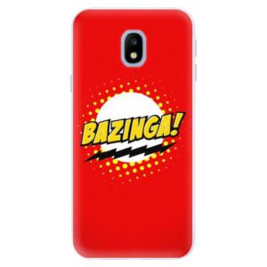 Silikonové pouzdro iSaprio (mléčně zakalené) Bazinga 01 na mobil Samsung Galaxy J3 2017