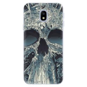 Silikonové pouzdro iSaprio (mléčně zakalené) Abstract Skull na mobil Samsung Galaxy J3 2017