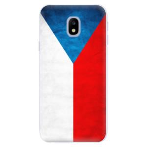 Silikonové pouzdro iSaprio (mléčně zakalené) Česká Vlajka na mobil Samsung Galaxy J3 2017