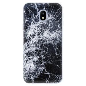 Silikonové pouzdro iSaprio (mléčně zakalené) Praskliny na mobil Samsung Galaxy J3 2017