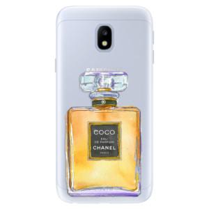 Silikonové pouzdro iSaprio (mléčně zakalené) Chanel Gold na mobil Samsung Galaxy J3 2017