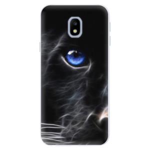 Silikonové pouzdro iSaprio (mléčně zakalené) Black Puma na mobil Samsung Galaxy J3 2017