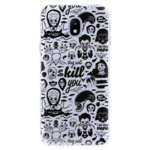 Silikonové pouzdro iSaprio (mléčně zakalené) Komiks 01 black na mobil Samsung Galaxy J3 2017