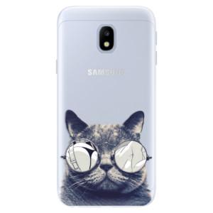 Silikonové pouzdro iSaprio (mléčně zakalené) Šílená Číča 01 na mobil Samsung Galaxy J3 2017