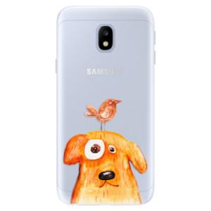 Silikonové pouzdro iSaprio (mléčně zakalené) Pejsek a Ptáček na mobil Samsung Galaxy J3 2017