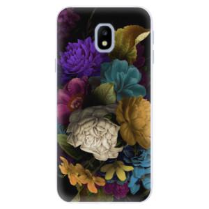 Silikonové pouzdro iSaprio (mléčně zakalené) Temné Květy na mobil Samsung Galaxy J3 2017