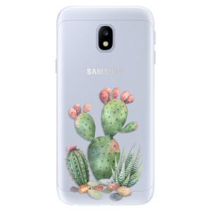 Silikonové pouzdro iSaprio (mléčně zakalené) Kaktusy 01 na mobil Samsung Galaxy J3 2017