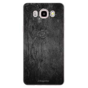 Silikonové pouzdro iSaprio (mléčně zakalené) - black Wood 13 na mobil Samsung Galaxy J5 2016