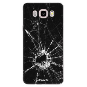 Silikonové pouzdro iSaprio (mléčně zakalené) - Broken Glass 10 na mobil Samsung Galaxy J5 2016