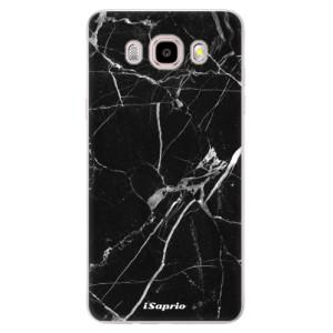 Silikonové pouzdro iSaprio (mléčně zakalené) - black Marble 18 na mobil Samsung Galaxy J5 2016