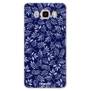 Silikonové pouzdro iSaprio (mléčně zakalené) - Blue Leaves 05 na mobil Samsung Galaxy J5 2016