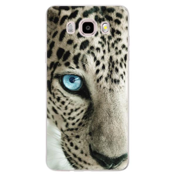 Silikonové pouzdro iSaprio (mléčně zakalené) - white Panther na mobil Samsung Galaxy J5 2016 (Silikonový kryt, obal, pouzdro iSaprio (mléčně zakalené) - white Panther na mobilní telefon Samsung Galaxy J5 2016)