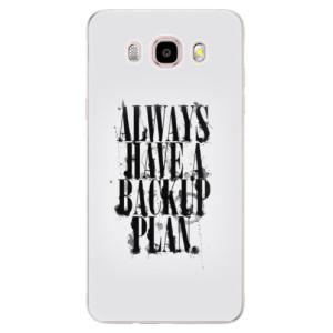 Silikonové pouzdro iSaprio (mléčně zakalené) Backup Plan na mobil Samsung Galaxy J5 2016