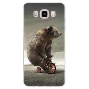 Silikonové pouzdro iSaprio (mléčně zakalené) - Bear 01 na mobil Samsung Galaxy J5 2016