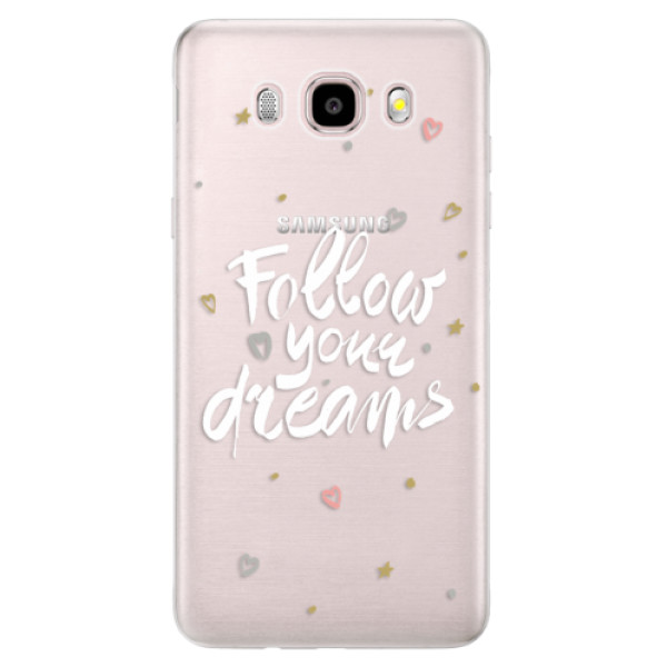 Silikonové pouzdro iSaprio (mléčně zakalené) - Follow Your Dreams white na mobil Samsung Galaxy J5 2016 (Silikonový kryt, obal, pouzdro iSaprio (mléčně zakalené) - Follow Your Dreams white na mobilní telefon Samsung Galaxy J5 2016)