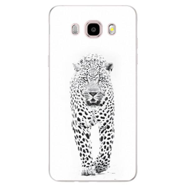 Silikonové pouzdro iSaprio (mléčně zakalené) - white Jaguar na mobil Samsung Galaxy J5 2016 (Silikonový kryt, obal, pouzdro iSaprio (mléčně zakalené) - white Jaguar na mobilní telefon Samsung Galaxy J5 2016)