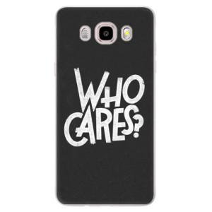 Silikonové pouzdro iSaprio (mléčně zakalené) - Who Cares na mobil Samsung Galaxy J5 2016