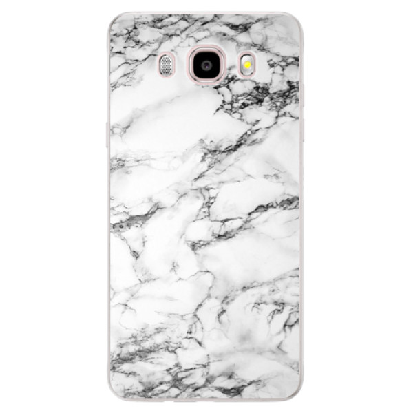 Silikonové pouzdro iSaprio (mléčně zakalené) - white Marble 01 na mobil Samsung Galaxy J5 2016 (Silikonový kryt, obal, pouzdro iSaprio (mléčně zakalené) - white Marble 01 na mobilní telefon Samsung Galaxy J5 2016)