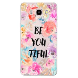 Silikonové pouzdro iSaprio (mléčně zakalené) - BeYouTiful na mobil Samsung Galaxy J5 2016