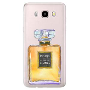 Silikonové pouzdro iSaprio (mléčně zakalené) - Chanel Gold na mobil Samsung Galaxy J5 2016