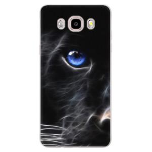 Silikonové pouzdro iSaprio (mléčně zakalené) - black Puma na mobil Samsung Galaxy J5 2016