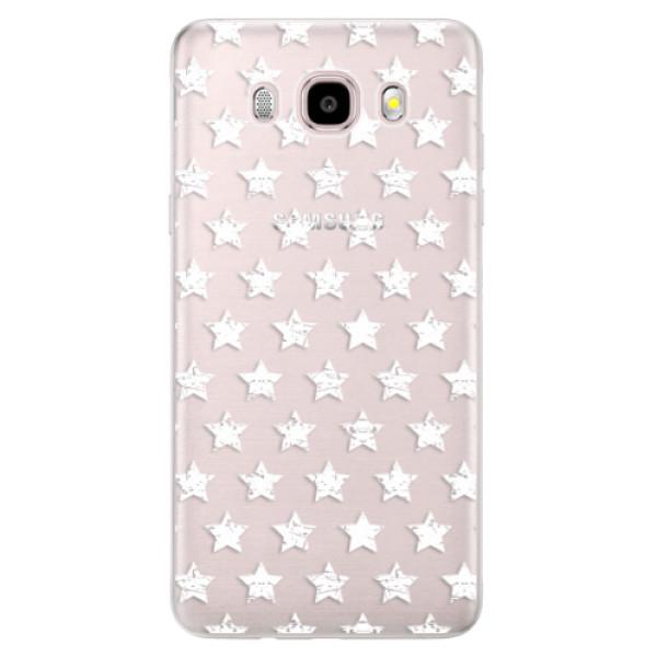 Silikonové pouzdro iSaprio (mléčně zakalené) - Stars Pattern white na mobil Samsung Galaxy J5 2016 (Silikonový kryt, obal, pouzdro iSaprio (mléčně zakalené) - Stars Pattern white na mobilní telefon Samsung Galaxy J5 2016)