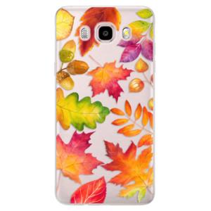 Silikonové pouzdro iSaprio (mléčně zakalené) Podzimní Lístečky na mobil Samsung Galaxy J5 2016