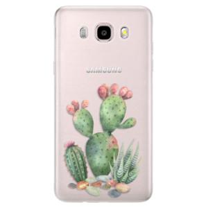 Silikonové pouzdro iSaprio (mléčně zakalené) - Cacti 01 na mobil Samsung Galaxy J5 2016