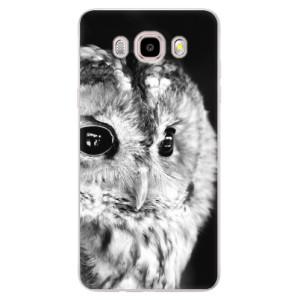 Silikonové pouzdro iSaprio (mléčně zakalené) - BW Owl na mobil Samsung Galaxy J5 2016