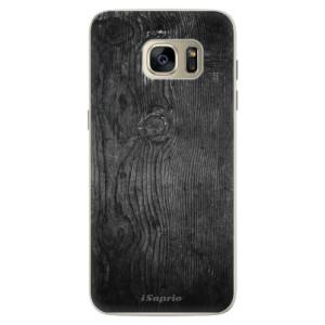Silikonové pouzdro iSaprio (mléčně zakalené) Black Wood 13 na mobil Samsung Galaxy S7